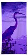 Blue Heron... Beach Towel