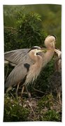 Blue Heron Family Beach Towel