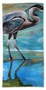 Blue Heron I Beach Towel