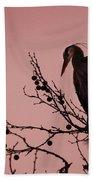 The Heron And The Moon Beach Towel