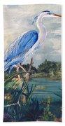 Blue Heron Beach Towel