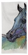 Blue Horse Beach Towel