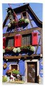 Blue House # I Beach Towel