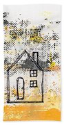 Blue House Beach Towel