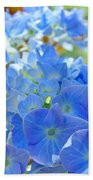 Blue Hydrangea Flowers Art Prints Summer Hydrangeas Baslee Beach Towel