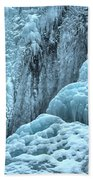 Blue Ice Flows At Tangle Falls Beach Towel
