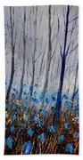 Blue In The Wood Beach Towel