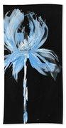 Blue Iris Bulb Beach Towel