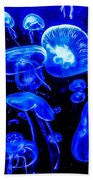 Blue Jellies Beach Towel
