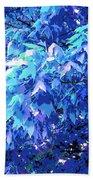 Blue Autumn  Beach Towel