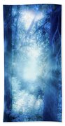 Blue Lights Beach Towel