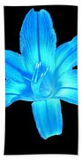 Blue Lily Beach Towel