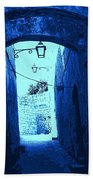 Blue Maltese Arch Beach Towel