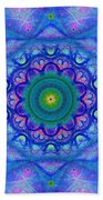 Blue Mandala For Heart Chakra Beach Towel