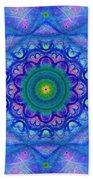 Blue Mandala For Heart Chakra Beach Sheet