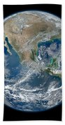 Blue Marble 2012 Planet Earth Beach Towel