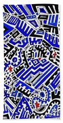 Blue Maze Beach Towel