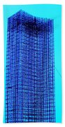 Blue Metal Mesh Beach Towel
