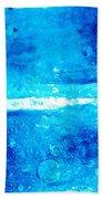 Blue Modern Art - Two Pools - Sharon Cummings Beach Towel