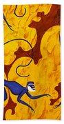 Blue Monkeys No. 45 Beach Towel