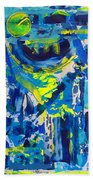 Blue Moon City Beach Towel