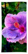 Blue Moon Hibiscus Beach Towel