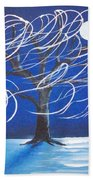 Blue Moon Willow In The Wind Beach Towel