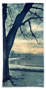 Blue Morning Beach Towel