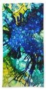 Blue Moth Beach Towel