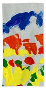 Blue Mountains Even Lemons Limes Oranges And Strawberries Beach Towel