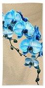 Blue Mystique Orchid Beach Towel