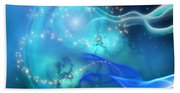 Blue Nebula Beach Towel