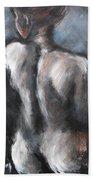 Blue Night - Nudes Gallery Beach Sheet