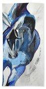 Blue Olympic Horse  Beach Towel