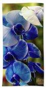 Blue Orchid Beach Towel