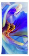 Blue Orchid Beach Towel