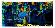 Blue Oyster Cult Jamming In Oakland 1976 Beach Towel