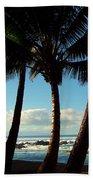 Blue Palms Beach Towel by Karen Wiles