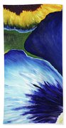 Blue Pansies  Beach Towel
