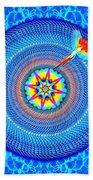Blue Parrot Mandala Beach Towel