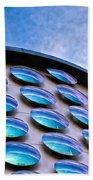 Blue Polka-dot Wave Beach Towel