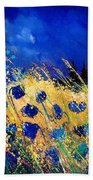 Blue Poppies 459070 Beach Towel