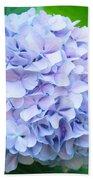 Blue Purple Hydrandea Floral Art Botanical Prints Canvas Beach Towel