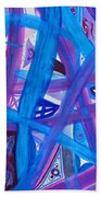 Blue Purple Paths  Beach Towel
