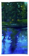 Blue Reflection Beach Towel