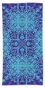 Blue Resonance Beach Towel