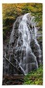 Blue Ridge Parkway Crabtree Falls In Autumn Beach Towel
