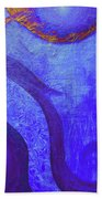 Blue Seed Beach Towel by Ishwar Malleret