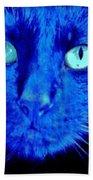 Blue Shadows Beach Towel