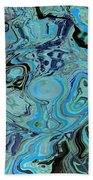 Blue Shimmers Beach Towel